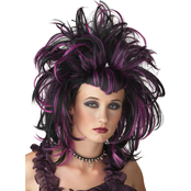 Wig Evil Sorceress Black Red