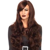 Wig Long Wavy Brown