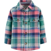OshKosh B'gosh Infant Boys Peacock Tail Plaid Bodysuit with Pockets