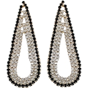 Panacea Pave Baubles Long Teardrop Earrings