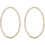 Panacea Pave Baubles Oval Earrings