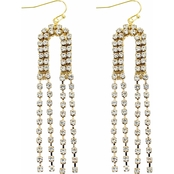 Panacea Pave Baubles U Fringe Earrings