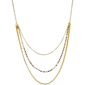 Panacea Pave Baubles Layered Necklace
