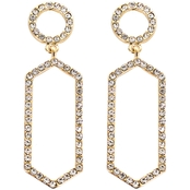 Panacea Pave Baubles Hexagon Earrings