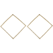 Panacea Pave Baubles Square Earrings