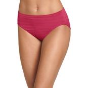 Jockey Matte and Shine Seamfree Hi Cut Panties