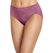 Jockey Smooth and Shine Seamfree Heathered Hi Cut Panties