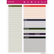 TF Publishing Bold Moves Collection Daily Bold Task Pad