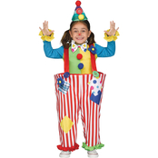 Fun World Toddlers Crazy Clown Costume, X-Large 4-6