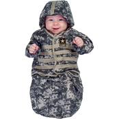 Underwraps Costumes Infant U.S. Army Bunting Costume, 0-6 Months