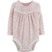 OshKosh B'gosh Infant Girls Ivory Ditzy Floral Bodysuit
