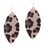 Panacea Animal Print Marquis Earrings