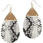 Panacea Animal Print Teardrop Earrings