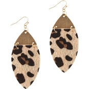 Panacea Leopard Marquis Earrings