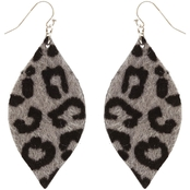 Panacea Animal Print Pointed Marquis Earrings