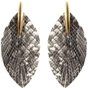 Panacea Snakeskin Fringe Post Earrings