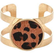 Panacea Leopard and Gold Cuff Bracelet