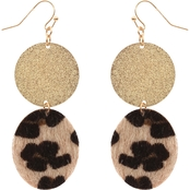 Panacea Beige Leopard Drop Earrings