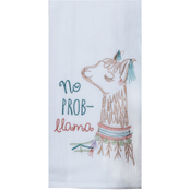 Kay Dee Designs Lovely Llama Embroidered Flour Sack Towel