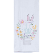 Kay Dee Designs Hello Spring Embroidered Flour Sack Towel
