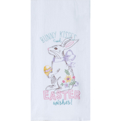 Kay Dee Designs Bunny Kisses Embroidered Flour Sack Towel