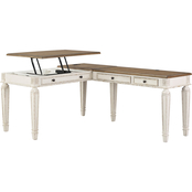 Signature Design by Ashley Realyn Lift Top Desk with Return