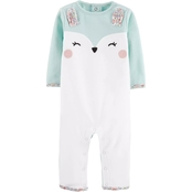 Carter's Girl Jumpsuit F19 G 1PC Mint Animal