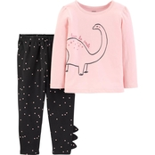 Carter's Infant Girls Core Dinosaur Tee and Leggings Set