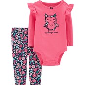 Carter's Infant Girls 2 pc. Owl Bodysuit and Pants Set