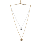 Lucky Brand Reversible Flippable Layered Pendant