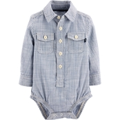 OshKosh B'gosh Infant Boys Workwear Button Front Bodysuit