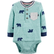 OshKosh B'gosh Infant Boys Bear Double Decker Bodysuit