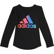 adidas Little Girls Rainbow Gradient Tee