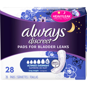 Always Discreet Incontinence Pads Extra Heavy Long Length 28 ct.