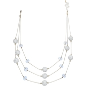 Jules b Pave Crystal Ball Illusion Necklace