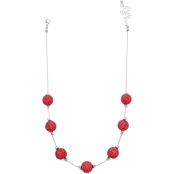 jules b Pave Crystal Ball 18 in. Short Necklace