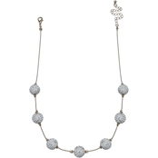 Jules b Pave Crystal Ball Short Necklace