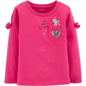Carter's Toddler Girls Dino Pocket Tee
