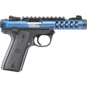 Ruger Mark IV 22/45 Lite 22 LR 4.4 in. Barrel Picatinny 10 Rnd Pistol Blue & Black