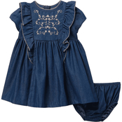 Bonnie Jean Infant Girls Embroidered Denim Float Dress