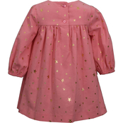 Bonnie Jean Toddler Girls Foil Star Corduroy Float Dress