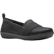 Clarks Women's Ayla Sloane Cloudstepper Slip On With Goring Detail