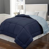 Blue Ridge Home Fashions Microfiber Color Reversible Down Alternative Comforter