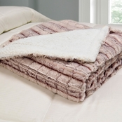 Blue Ridge Home Fashions Micromink Sherpa Reversible Throw