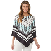 Passports Chevron Print Knit Top