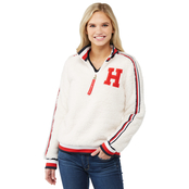 Tommy Hilfiger Misses Sherpa Half Zip Knit Sweater