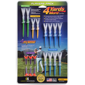 Green Keepers, Inc. 4 Yards More Players Pack Performance Golf Tees