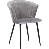 Armen Living Aaron Barstool in Grey Faux Leather