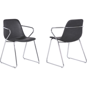 Armen Living Colton Contemporary Dining Chair 2 pk.