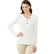 JW Rib Knit Henley Top